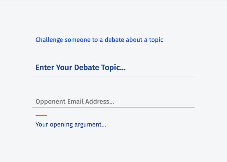 Debate content